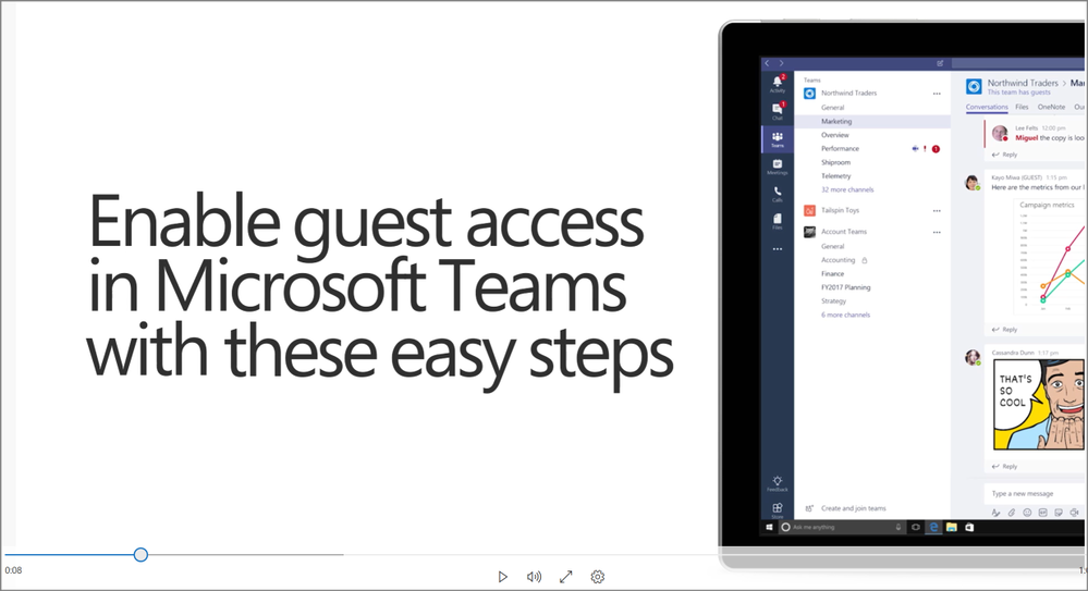 How to enable guest access in Microsoft Teams.