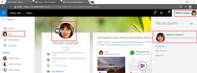 Office 365 profile picture not displayed on all services-3-Office Delve