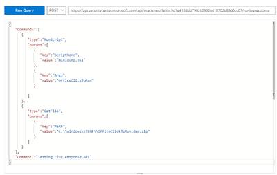 live response API request example
