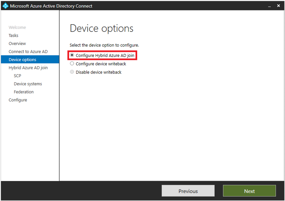 Ensure your environment is Hybrid Azure AD join enabled
