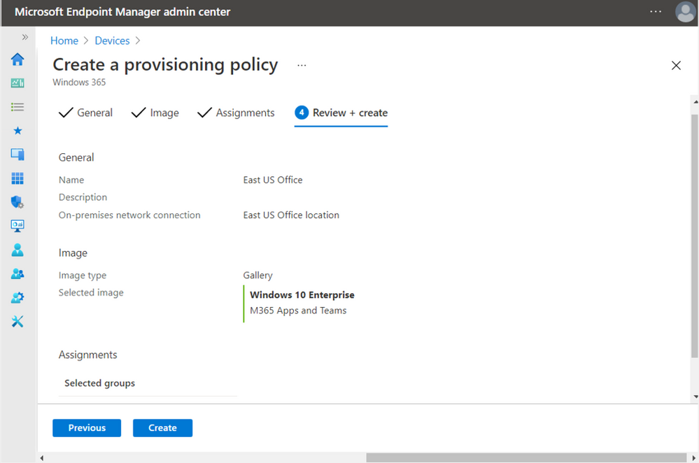 Before finalizing, review your policy settings