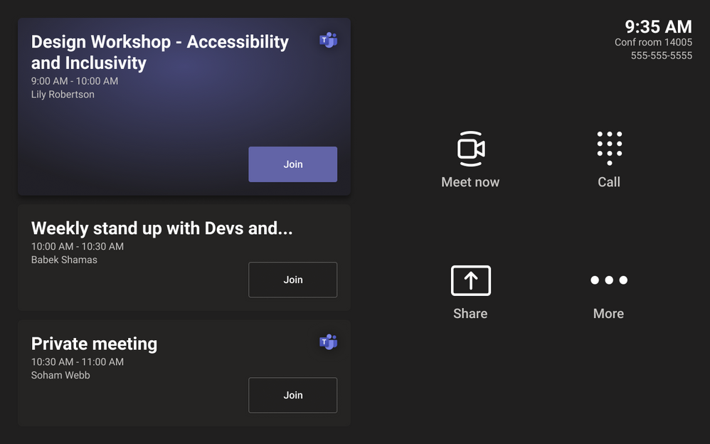 Thumbnail image 2 of blog post titled microsoft teams rooms on android | august 2021 updates