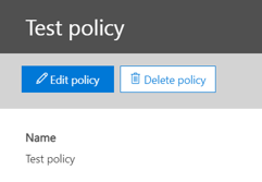 Office 365 Security and Compliance Center policy settings.