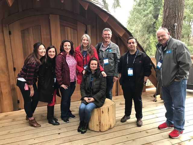 Volunteer mentors from the Community Mentors Program