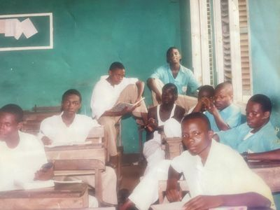 This is me with classmates from highschool. Circa 2004