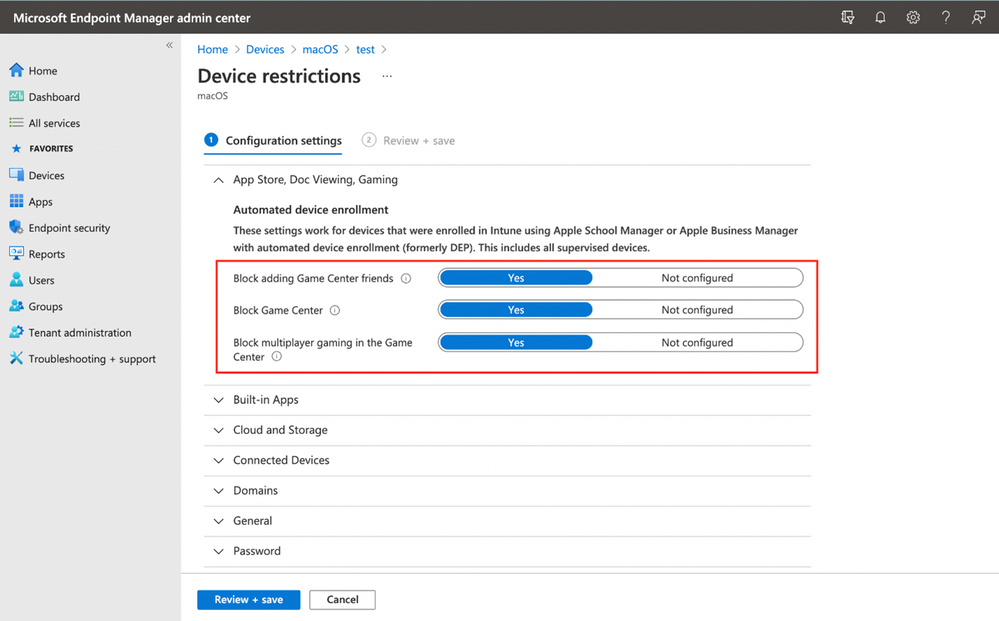 Where to configure the settings in the Microsoft Endpoint Manager admin center.png