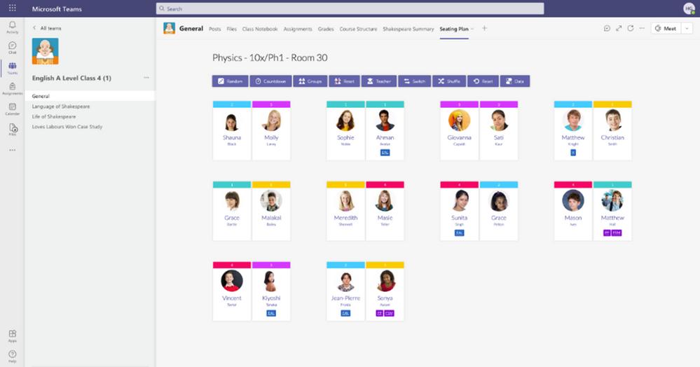 miniatura immagine 13 con didascalia Firefly Seating Plan significa che gli insegnanti hanno i loro strumenti di gestione della classe a portata di mano in ogni momento, rendendo più facile per loro organizzare e gestire le loro classi, con tutto ciò di cui hanno bisogno in un unico posto, all'interno di Microsoft Teams.