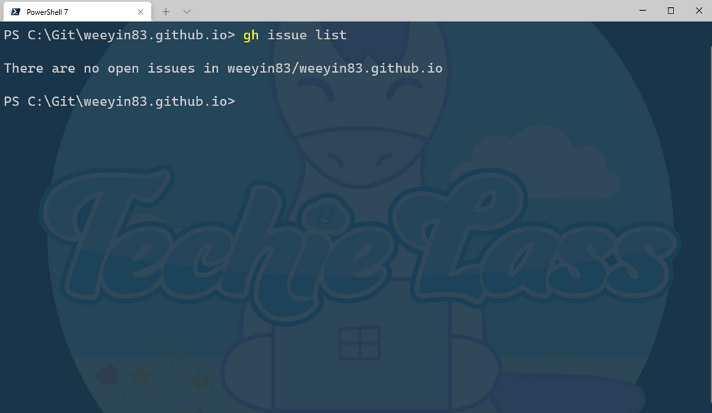 GitHub CLI Issue command