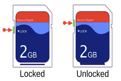 SD card physical lock