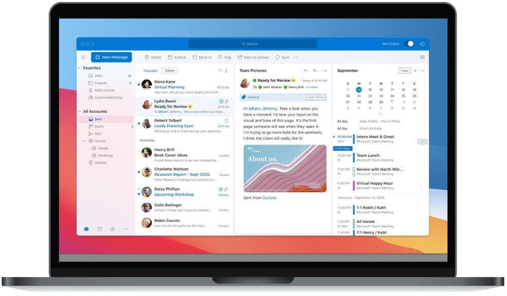 Microsoft Outlook on macOS, managed in Microsoft Endpoint Manager