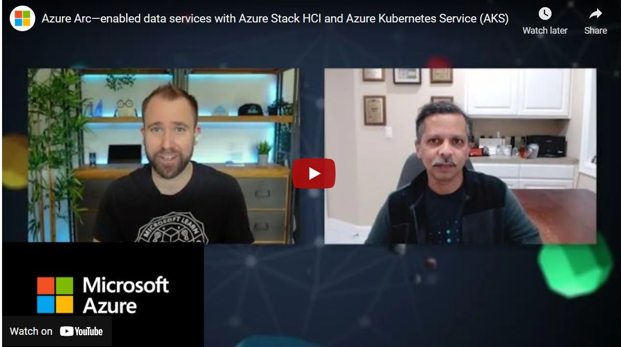 Azure Arc - enabled data services with Azure Stack HCI and Azure Kubernetes Service (AKS)