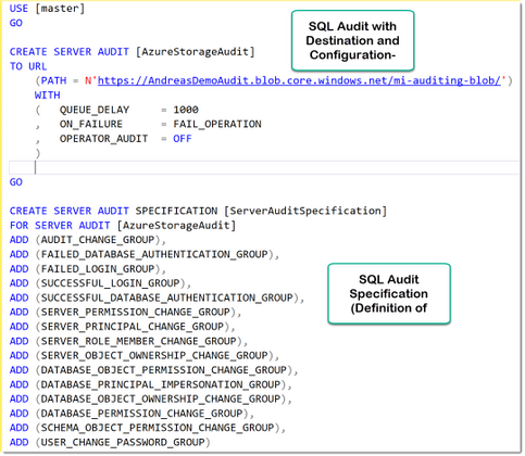 T-SQL Example Audit