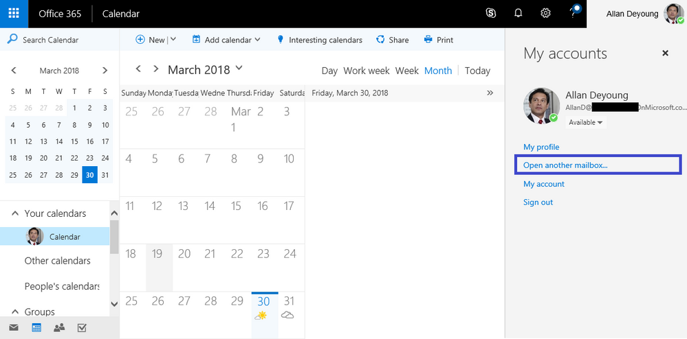 thumbnail image 3 of blog post titled              Sharing Office 365 Room's availability to external users