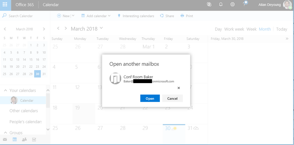 thumbnail image 4 of blog post titled              Sharing Office 365 Room's availability to external users