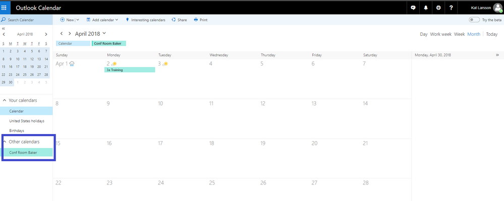 thumbnail image 7 of blog post titled              Sharing Office 365 Room's availability to external users