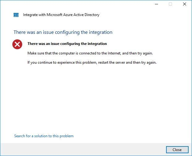 there was an issue configuring the integration Windows server 2016.jpg