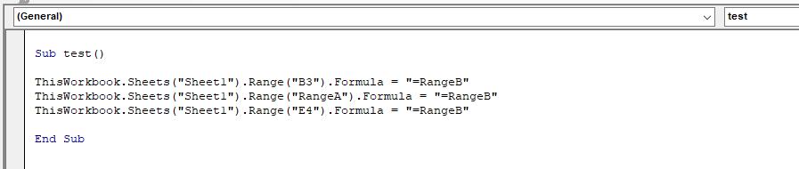 Code for editing formulas