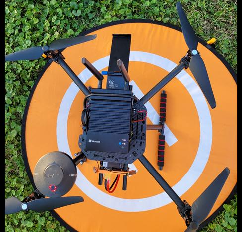 Image: Mounted Azure Percept DK on a custom UAS platform