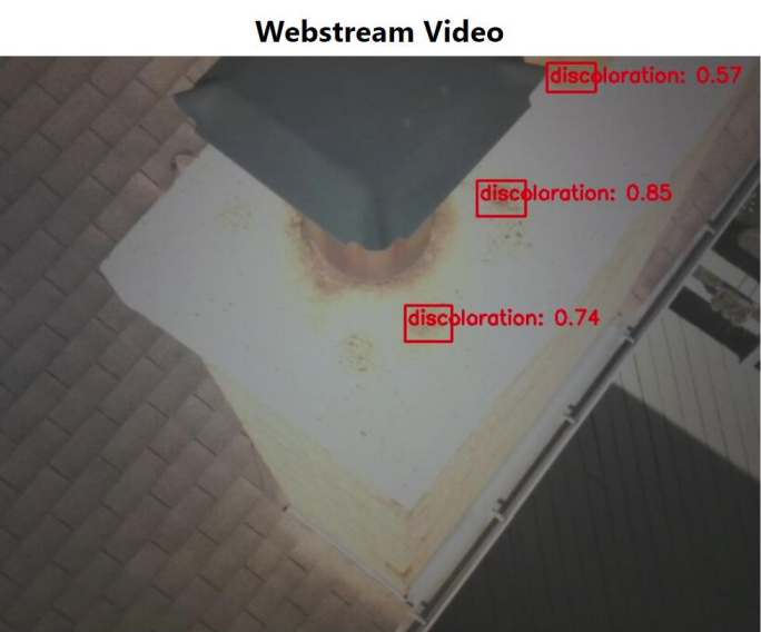 Image: The Webstream Video webpage contains real time inference using the tags you create