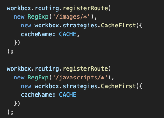 Cache First routing
