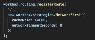 Network First routing for the home page