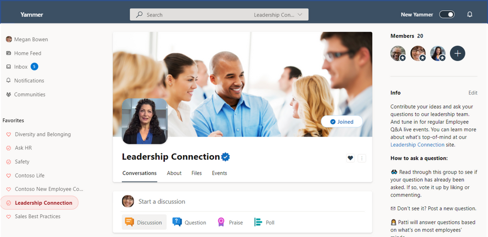 Official Yammer community