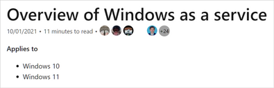 Example of how Windows documentation will show if it applies to Windows 11, Windows 10, or both