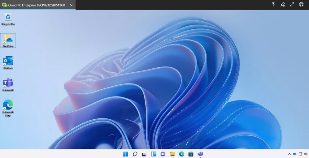 thumbnail image 2 captioned The Windows 11 experience on a Windows 365 Cloud PC