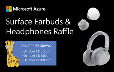 Microsoft Azure Surface Earbuds and Headphones raffle