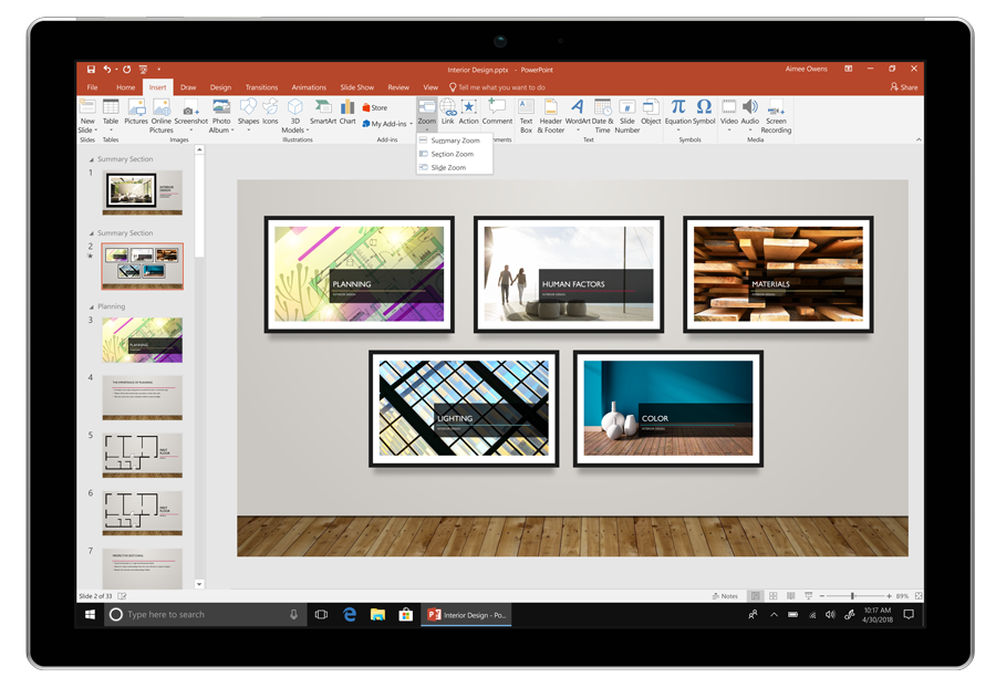 Make more dynamic and exciting presentations with PowerPoint Zoom