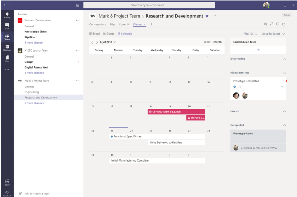 View upcoming tasks with Schedule view