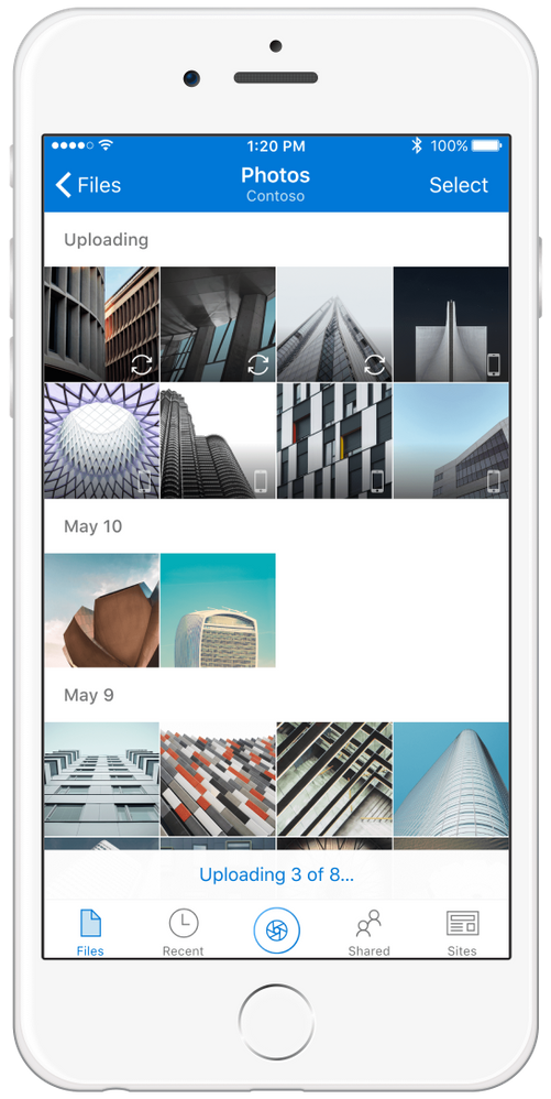 Camera Upload for OneDrive for Business