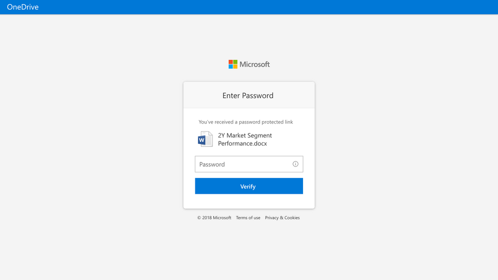Password Protected Links- Receipant