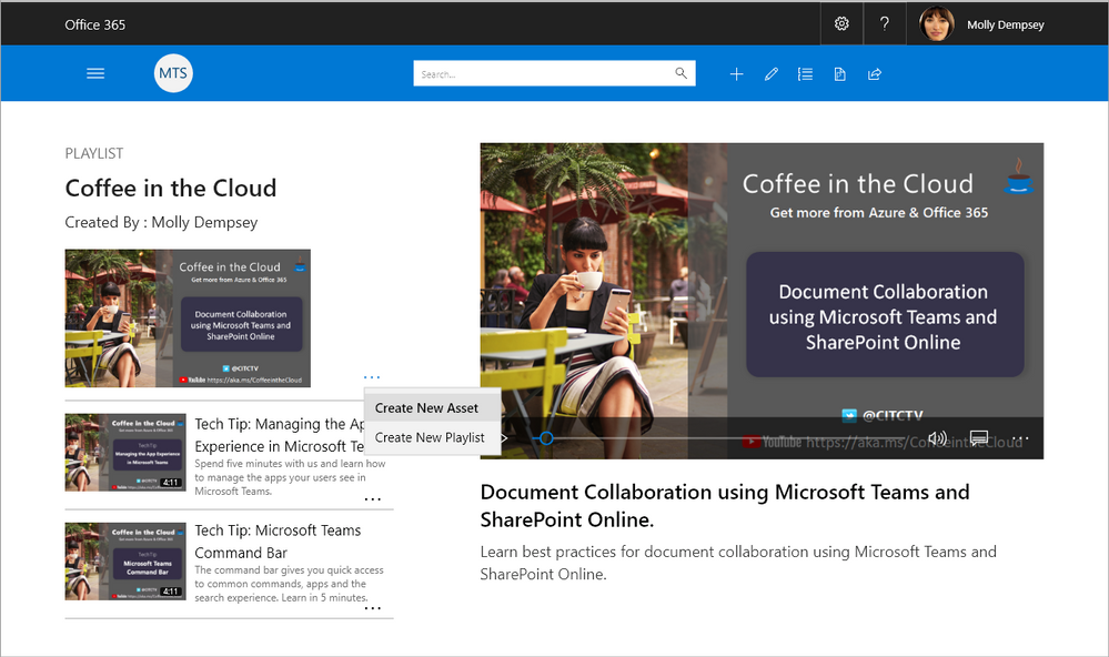 Microsoft Training Services - delivering content straight to your intranet