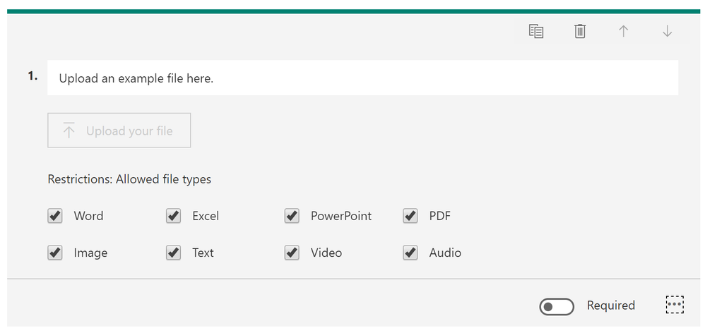 File uploads with Microsoft Forms