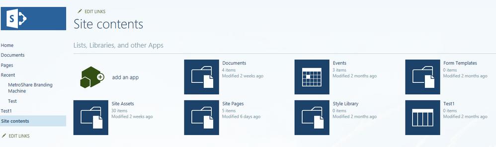 Site Contents