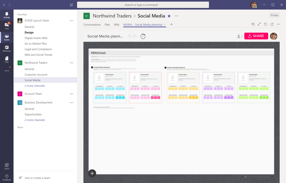 Add a Mural tab to collaborate visually with your team