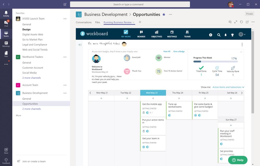 Set, measure and execute strategic priorities faster with Workboard in Teams