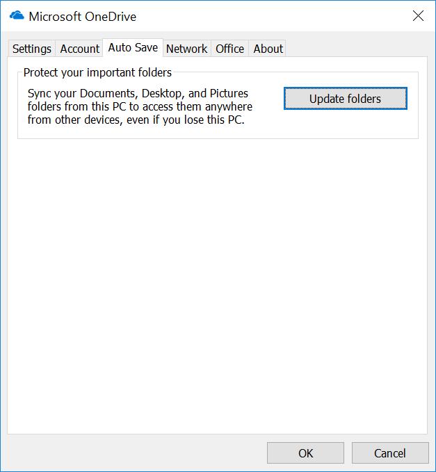 Update Folders setting