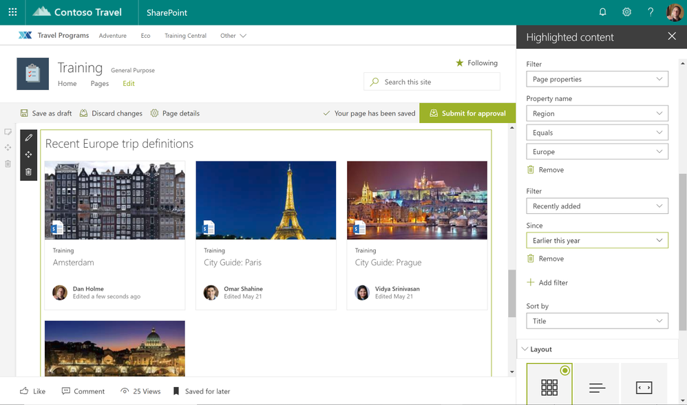 Use the filtering capabilities on page properties to refine and present your SharePoint pages as you intended.
