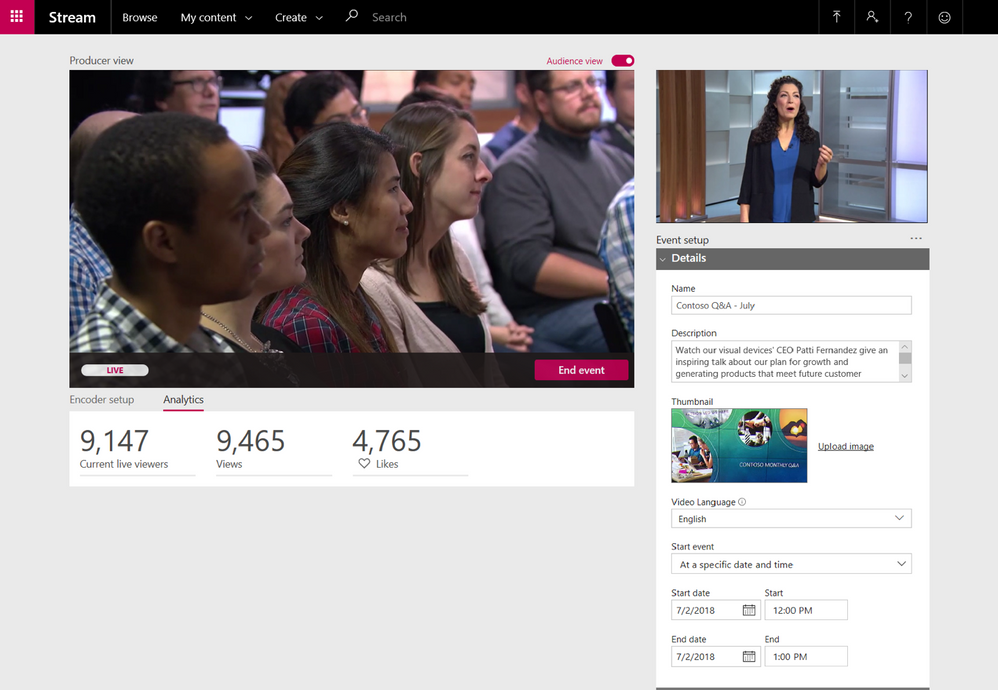 Monitor audience engagement in real-time in Stream