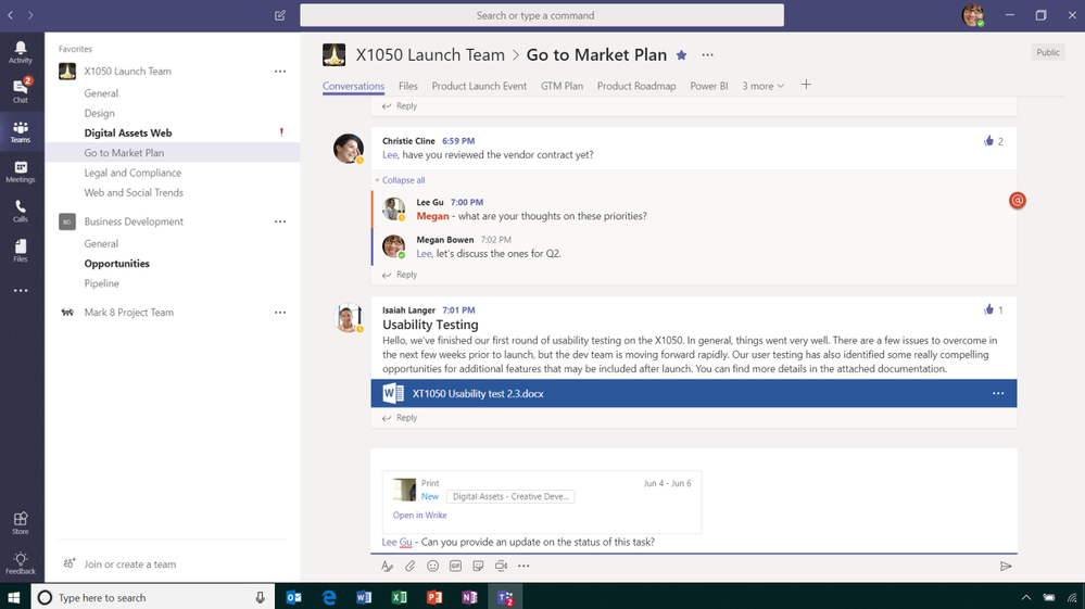 Add Wrike task previews to messages