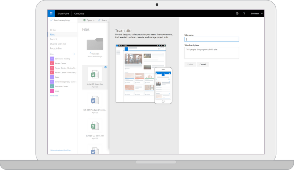 OneDrive Interface