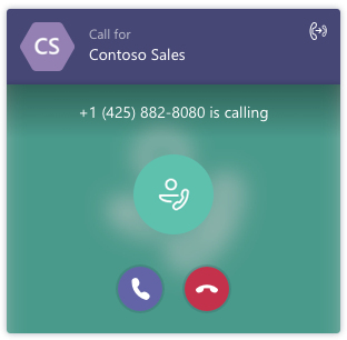 Receive and answer calls from Skype for Business' Call Queue Call toast