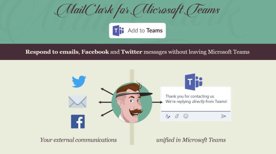 Use MailClark to respond to various messages without leaving the Teams app.