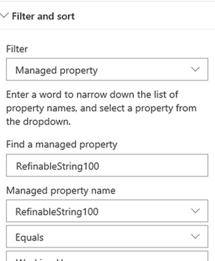 Highlighted conent just filtering on a managed property.PNG