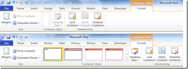 Custom Containers, Lists and Callouts in Visio 2010