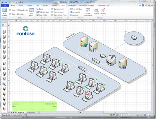 Visualizing Operations Manager Data in Visio Services - Microsoft