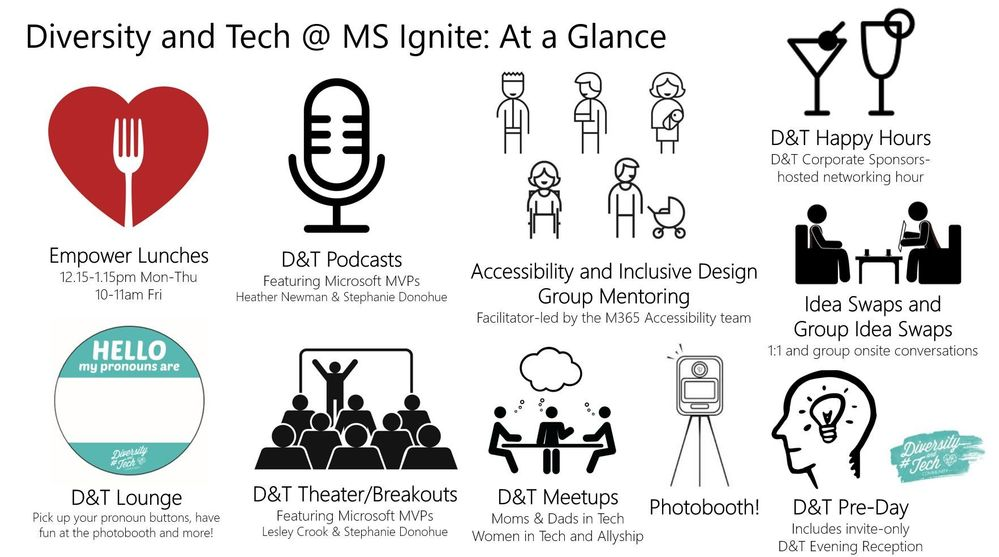 Attending Microsoft Ignite 2018? Come dive deep into all the Diversity and Tech activities happening all week!