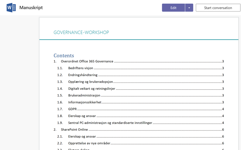 Open the manuscript that You use for Your workshops